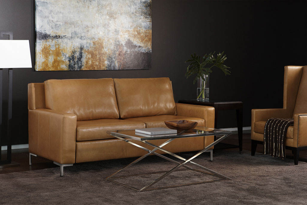 Mattress System Sleeper Sofa Position Brown Leather